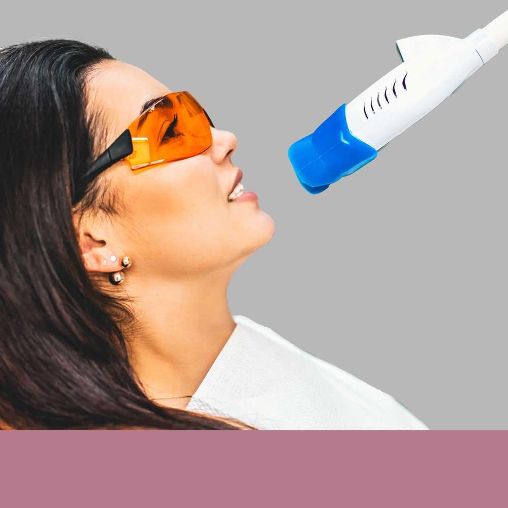 Women Getting Her Teeth Whitened